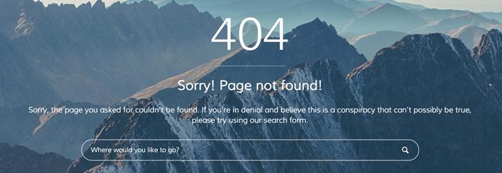 personnaliser page d'erreur 404 wordpress