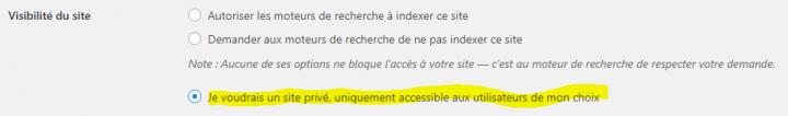 comment restreindre l'accès à un site wordpress.com