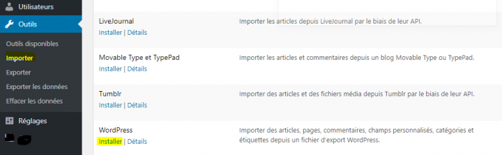Comment importer du contenu WordPress.com dans un site WordPress.org